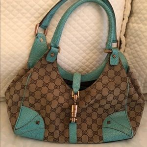Vintage Turquoise Gucci Bag